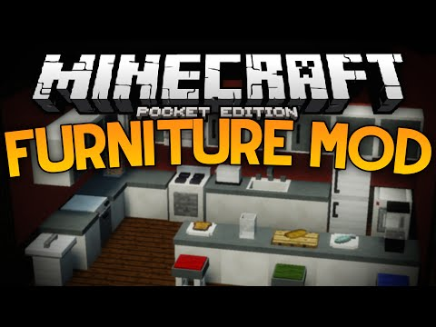 MORE FURNITURE IN MCPE!!! - The Furniture Mod - Minecraft PE (Pocket Edition)