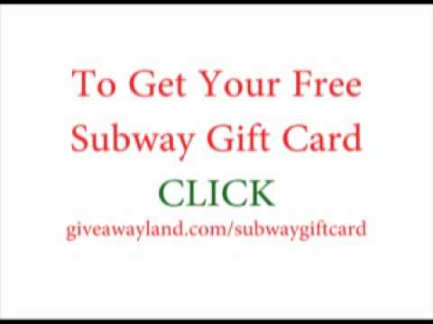 Subway Gift Card - Do You Want A Free Gift Card?