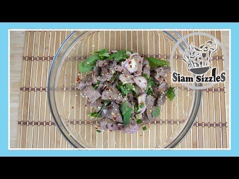 Thai Spicy Liver Salad Recipe (Tub Wan)
