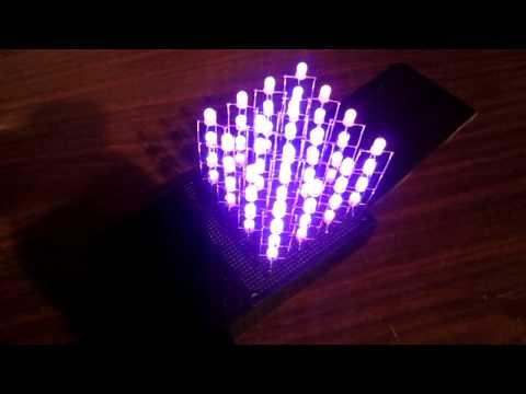 Charlieplexed 4x4x4 RGB LED Cube