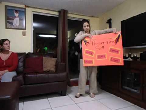 Speech class poster presentation