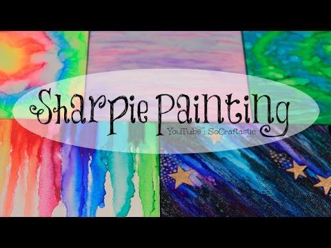 DIY Sharpie Galaxy Watercolor Painting | SoCraftastic