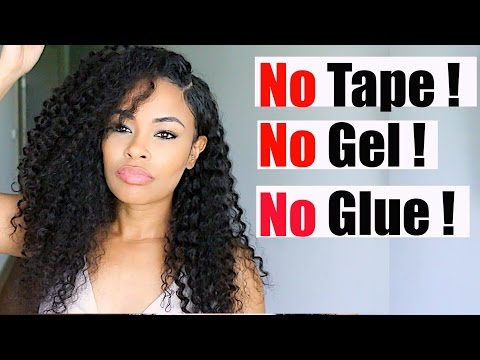 How to Install a Lace Front Wig!!! No GEL - No GLUE - No TAPE series!