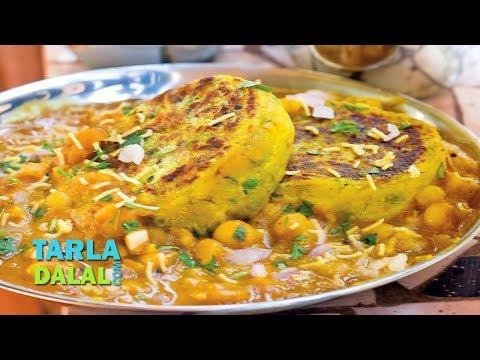 रागड़ा पैटीस रेसिपी (Ragda Pattice, Ragda Patties, Chaat Ragda Patties) by Tarla Dalal