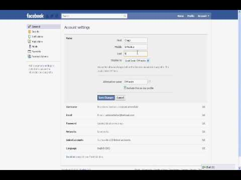 How To Change Your Facebook name if it reaches the limit