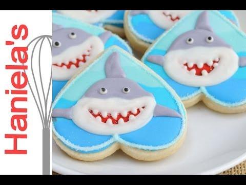 Decorated Shark Cookies Tutorial