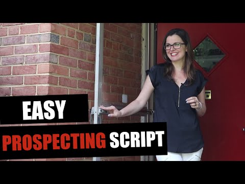 Door Knocking Script For Real Estate Agents: Lead Generation Prospecting Tip