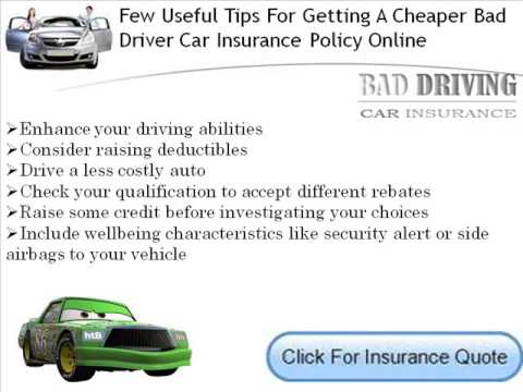 Bad Driving Record Car Insurance For Young Drivers.