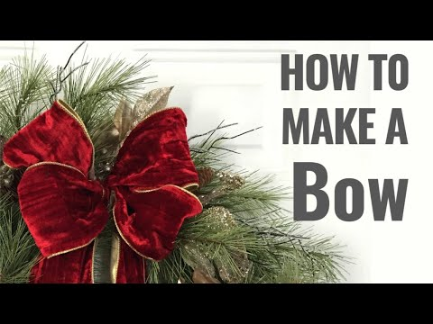 How To Make a Bow - EASY Step by Step DIY tutorial