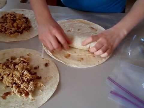 How to make homemade freezer burritos