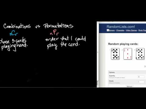 Permutations versus Combinations