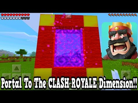 Minecraft Pe - Portal To The Clash Royale Dimension - Mcpe Portal To The Clash Royale!!!