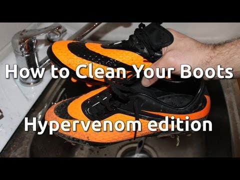 How to Clean Your Football Boots - Hypervenom edition