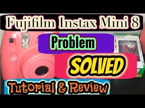 FujiFilm Instax Mini 8 TroubleShoot (All lights blinking SOLVED)&Review
