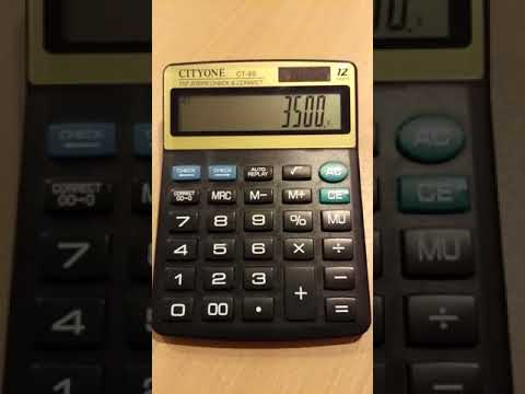 how to calculate percentage on calculator using%%