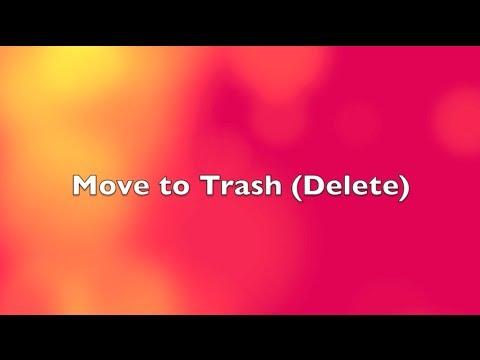 Move files or folders to Trash (delete) on Mac (Shortcut)