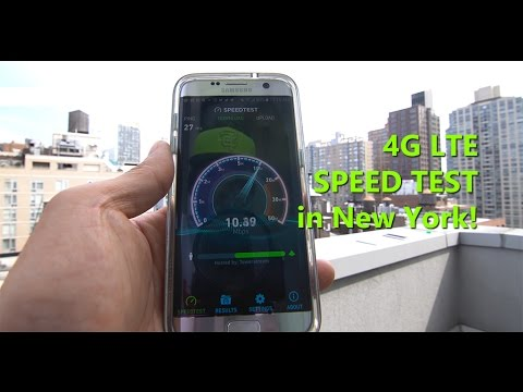 New York 4G LTE Speed Test! [AT&T/T-Mobile/Sprint/Verizon]