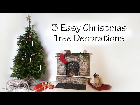 QUICK/EASY Miniature Christmas Tree Decoration Tutorial