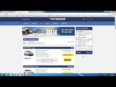 How to book flight tickets online (Ryanair,Skyscanner )