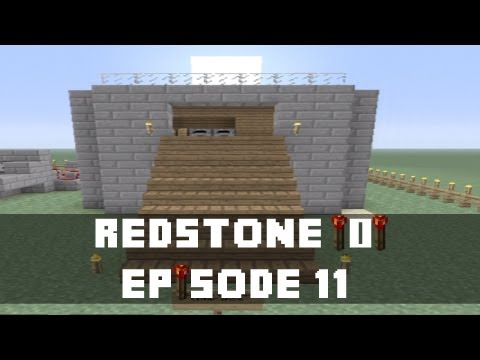 Minecraft Xbox 360 -  How to make a Hidden Door Activated by a Furnace  (Xbox, Redstone Tutorial)