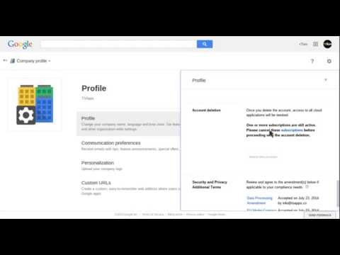 Google Apps: How to delete Google Apps account