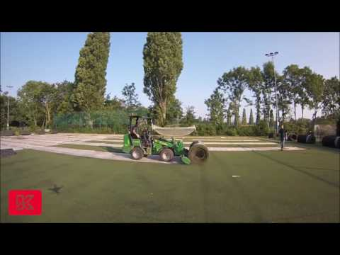 GIANT Loader- Turf Removal.