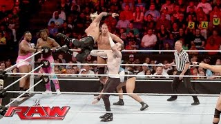 The New Day & Enzo Amore & Big Cass vs. Gallows, Anderson & The Vaudevillains: Raw, June 13, 2016
