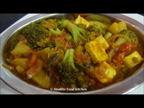 Aloo Broccoli Sabzi with Paneer-Potato Broccoli Curry Recipe-Broccoli Recipe in Tamil
