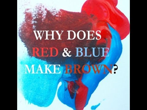Why Red and Blue Make Brown: Color Wheel Myth Dispelled