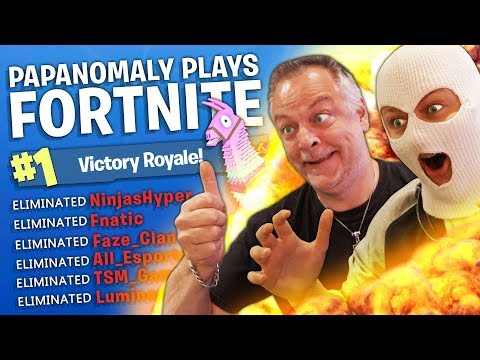 PAPANOMALY PLAYS FORTNITE (FUNNY HIGHLIGHTS)