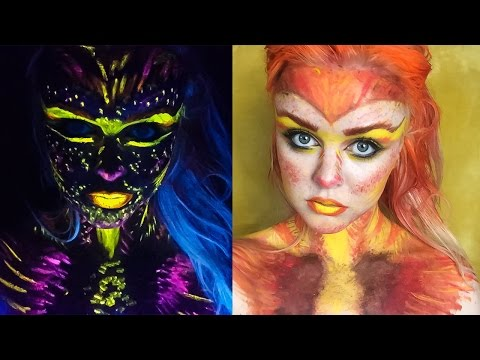 Phoenix Black light Makeup