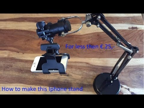 DIY iphone stand for filming hands at work