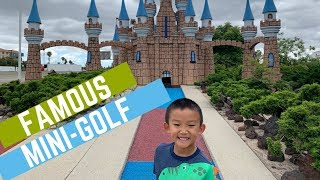 Playing a FAMOUS MINI GOLF Course featured in the MOVIES!