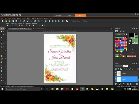 How to design a Wedding Invitation in Corel PaintShop Pro X8