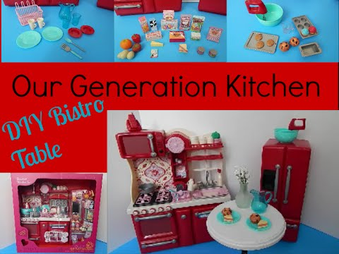 Our Generation Kitchen + DIY Bistro Table