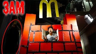 Download 3AM McDonalds GIANT BOX FORT ! *24hrs Over NIGHT Challenge!!* Video