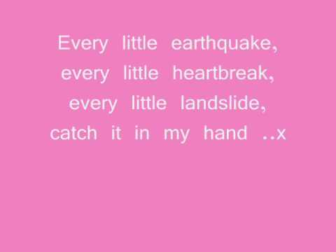Little Boots - Earthquake + on screen lyrics + in description