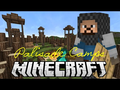 How to build a palisade camp tutorial - Minecraft Super Simple! Series