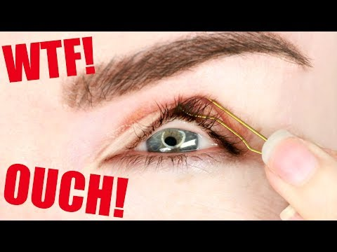 I tried the hooded eyelid hack... DO NOT TRY THIS YOURSELVES!