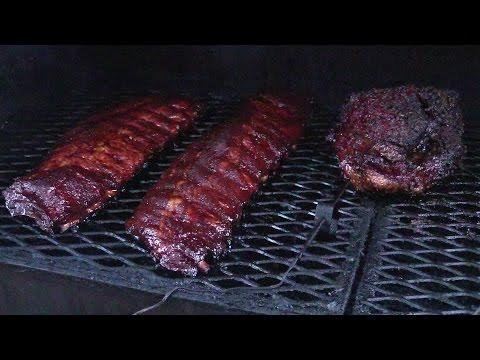 Baby Back Ribs & Texas Brisket on Offset Smoker