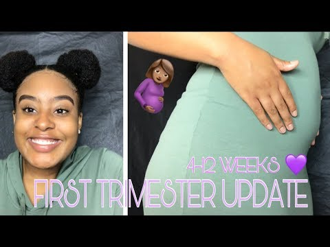 18 & Pregnant | First Trimester Update | 4 -12 Weeks ❤️ + BELLY SHOT