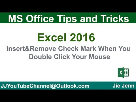 Insert & Remove Check Mark When You Double Click Mouse | Excel VBA Tutorial