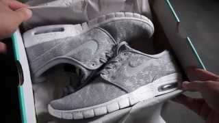 724c3467 NIKE STEFAN JANOSKI MAX - Wolf Grey Mesh - unboxing & on feet review