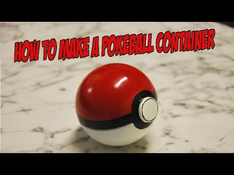 How to make a Pokeball container