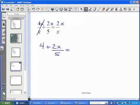 Solving Rational Equations (Part 1) - LT13