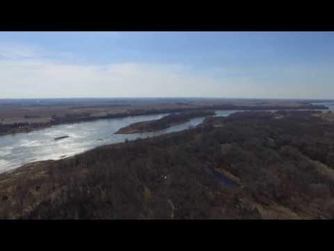 Aerial Footage of Platte River, Ponds, and Farmland   2.7K HD Drone Camera   DJI Phantom 3 Video