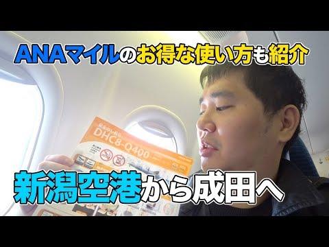新潟空港からANAで成田へ!!マイルだとお得に国内乗り継ぎできる