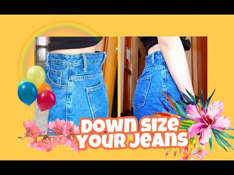 DOWNSIZE YOUR JEANS (RESIZE WAIST) ❇ EASY!