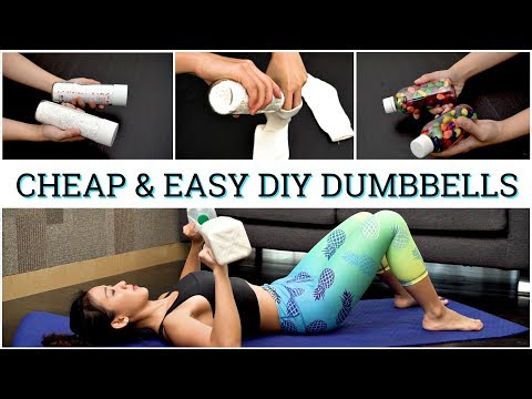 5 Cheap & Easy DIY Dumbbell Ideas | Joanna Soh