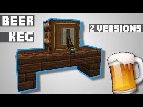 (DK) Minecraft Tutorial | 2 Functional Beer Kegs / (øl-tønde)